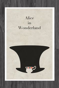Alice in Wonderland Fairy Tale Poster Art 11x17. $14,99, via Etsy.