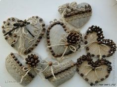 1 million+ Stunning Free Images to Use Anywhere Crochet Christmas Ornaments, Christmas Crafts, Coffee Bean Art, Crafts To Make, Arts And Crafts, Twine Crafts, Fabric Hearts, Coffee Crafts, Heart Crafts