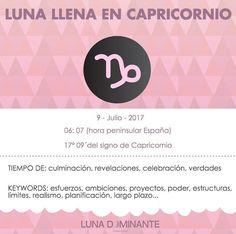 Infografía de la Luna Llena en Capricornio 2017 por Luna Dominante