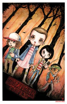 "kogaionon: "" Stranger Things by Christopher Uminga / DeviantArt / Twitter / Tumblr / Instagram / Store 11″ x 17″ signed print and original watercolor on 124 lb coldpress paper available here. """