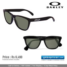 #Oakley #Frogskins sunglasses! Buy now: http://www.gkboptical.com/oakley-oakley03-223-sunglass-bl-gr-on151bl55