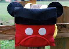Mickey Mouse Feeding Tube Backpack by TuFeBoutique on Etsy