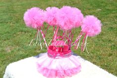 PRINCESS - SLEEPING BEAUTY INSPIRED TULLE WANDS - Party Favors, Decorations, Tutu Wands, Pom Pom Wands