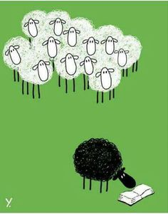 I'm the black sheep who read :)) Bet that is a good book I Love Books, Good Books, Books To Read, My Books, Reading Quotes, Book Quotes, World Of Books, I Love Reading, Lectures