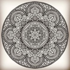 Black And White Prints, Black White, Sacred Geometry Art, Mandala Painting, Zentangle, Embroidery Patterns, Stained Glass, Coloring Pages, Stencils