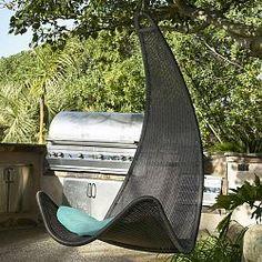 Woven Hanging Lounger | Egg Shape Wicker Rattan Swing Bed Chair Weaving  Lounge Hanging Hammock ... | Exterior Design Veranda Vibes | Pinterest |  Wicker ...