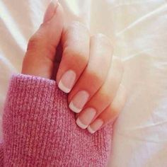 Awesome French Manicure Designs For 2015-- like the clean short style