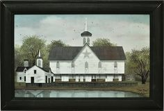 Star Barn Canvas Home Wall Decor Country Farm Painting Church Worship Home Pond Country Wall Decor, Country Art, Home Wall Decor, Barn Pictures, Canvas Pictures, Billy Jacobs Prints, Primitive Pictures, Farm Paintings, Butterfly Wall Decor