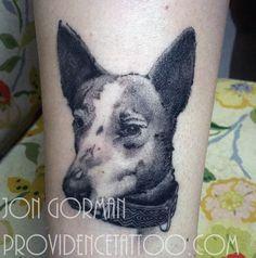 dog portrait tattoo by jon gorman at providence tattoo   #providencetattoo #jongorman #dog #tattoo #dogtattoo #dogportrait #blackwork #blackandgrey #pet #pettattoo #ink #tattooideas #tattooartists
