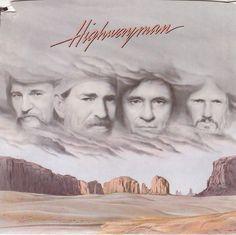 Highwayman / Willie Nelson, Waylon Jennings, Johnny Cash, Kris Kristofferson / 7' Vinyl 45 RPM Record & Picture Sleeve #ContemporaryCountry #Music #Vinyl #Record