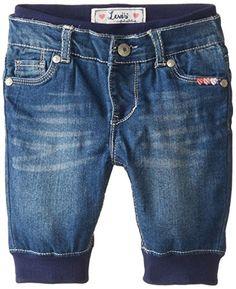4394a27ad Amazon.com: Levi's Baby Girls' Mia Capri Pull On Denim Pant, Iced Blue, 12  Months: Clothing