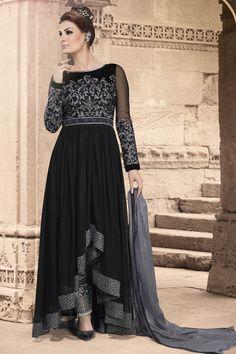 Black Anarkali Salwar Kameez Online From Easysarees