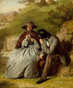 William Powell Frith, British, The Lovers, 1855,  Oil on board, The Art Institute of Chicago (Image No. 00052239-01)