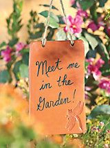 """Garden Notes -Writable Earthenware Plaque 