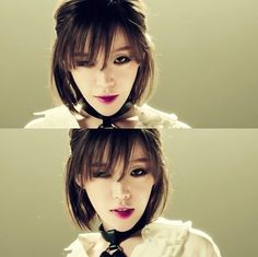 Au Ideas, Ga In, Gothic Makeup, Brown Eyed Girls, Kill Bill, Brown Eyes, K Idols, Medium Hair Styles, Maquillaje