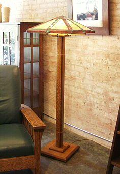 frank lloyd wright - prairie style school - taliesin floor lamp