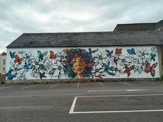 Jim vision & This one for Cheltenham Paint Festival in Cheltenham, UK, 2020 Street Art London, Prefab, Cosmos, Graffiti, Painting, City, Painting Art, Paintings, Painted Canvas