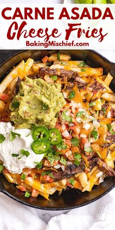 How to make the BEST Carne Asada Fries at home. The perfect appetizer for company or dinner for an evening in.