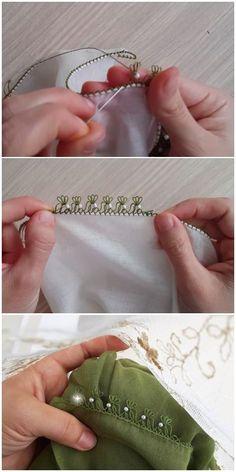 Needle lace construction with sand beads Filet Crochet, Crochet Borders, Crochet Stitches, Embroidery Stitches, Embroidery Patterns, Hand Embroidery, Simple Eyeshadow Tutorial, Crochet Unique, Needle Lace
