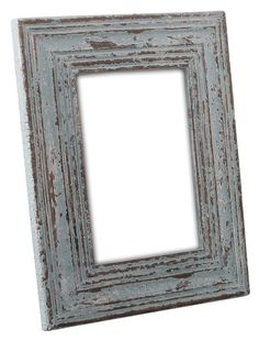 Bulk Wholesale Handmade 5x7 Mango-Wood Photo Frame / Picture Holder with Ribbed Pattern in Distressed Pastel Green Color – Antique-Look Home Décor from India