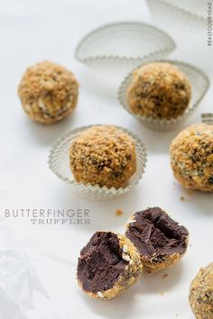 Butterfinger Truffles from Real Food by Dad