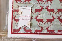 Weihnachtskarte mit Fähnchen