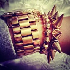 Gold Glam Arm Candy