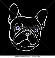 French bulldog background. Vector illustration.