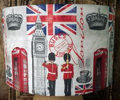 London Lampshade Retro Hip  City lamp shade light shade  red white blue union…