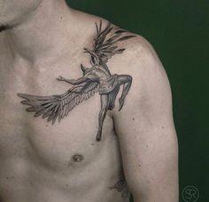 60 Icarus Tattoo Designs For Men - Manly Greek Mythology Ideas Bone Tattoos, Black Tattoos, Body Art Tattoos, Sleeve Tattoos, Tatoos, Icarus Tattoo, Future Tattoos, Tattoos For Guys, Fallen Angel Tattoo