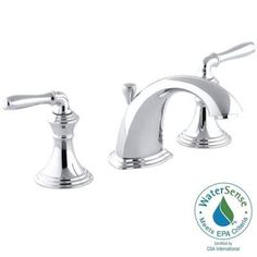 KOHLER Devonshire 8 in. Widespread 2-Handle Low-Arc Bathroom Faucet in Polished Chrome - K-394-4-CP - The Home Depot