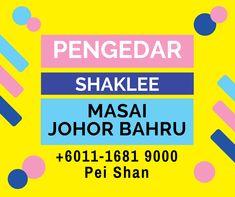 Hi Saya Pei Shan Pengedar Shaklee Masai Johor Bahru dan juga Stokis Shaklee Masai Johor Bahru. Dapatkan Vitamin dan Supplemen terbaik Shaklee seperti VIVIX dan sebagainya. Hubungi 011-1681 9000 Boleh juga ke Singapore Johor Bahru