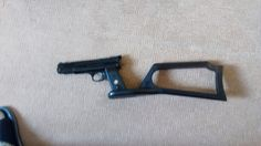 Webley  Nemesis Unusual because it Converts easily to a carbine with the  addition of the shoulder stock