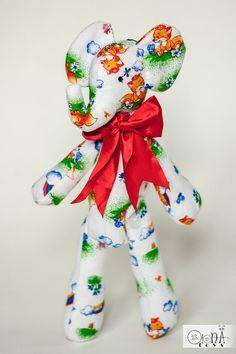 Stuffed elephant animal plush tilda doll natural home by OlonaToys