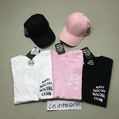 2016 Summer ANTI SOCIAL CLUB T Shirt Mens Hip Hop Streetwear Cotton  Short-sleeved T 306da1903f7