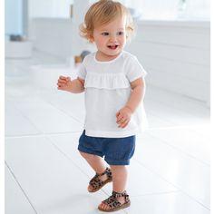 3 teiliges Set Bluse, Shorts, Haarband, 1 Monat 3 Jahre #Babymode