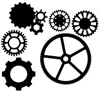 """Some of you might be Thinking: """"What on Earth is Steampunk?"""" Well, this file is for those of us who are into that industrial look. These just make cute additions for your cricut cutting collection eit Silhouette Machine, Silhouette Files, Free Svg Cut Files, Svg Files For Cricut, 3d Templates, Inkscape Tutorials, Images Vintage, Steampunk Gears, Silhouette Cameo Projects"""
