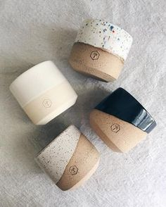 small planters by Erica Tuomi ( Ceramic Cups, Ceramic Pottery, Ceramic Art, Pottery Mugs, Ceramic Planters, Cerámica Ideas, Keramik Design, Pottery Classes, Paperclay