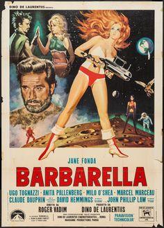 "Movie Posters:Science Fiction, Barbarella (Paramount, 1968). Italian 2 - Foglio (39"" X 55"").Science Fiction.. ... Image #1"
