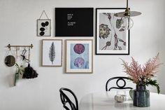 Beautiful wall gallery @pernillebaastrup