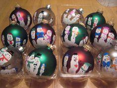 Handprint ornaments