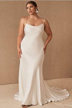 Last-Minute Wedding Dress - BHLDN Slip Wedding Dress, Courthouse Wedding Dress, Civil Wedding Dresses, Wedding Dresses Plus Size, Dream Wedding Dresses, Modern Wedding Dresses, Bhldn Wedding Dress, Formal Dresses, Bridal Outfits