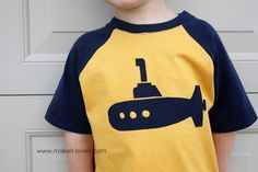 Re-Purposing: Baseball Style Tee from Men's Tshirts