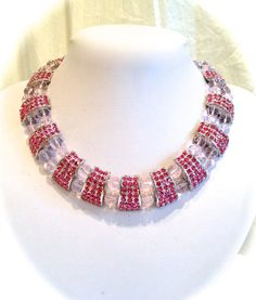 Vintage Crystal Estate Jewelry Necklace and by WOWTHATSBEAUTIFUL, $149.00