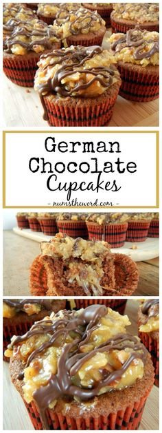 These German Chocolate Cupcakes are a favorite of ours. Easy to make and oh so yummy! Our favorite Chocolate cupcake topped with German Chocolate Frosting!