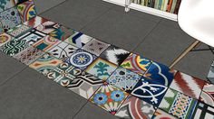 Large preview of 3D Model of Cement Tile Rendering