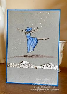 Stampin Up Demonstrator UK Pegcraftalot Peg Coombes: The Little Blue Dress
