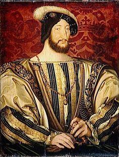 Francois 1  (Frances I),  (1494 – 1547)  King of France   Painting by Jean Clouet  96 × 74 cm, Paris, Louvre Collection.