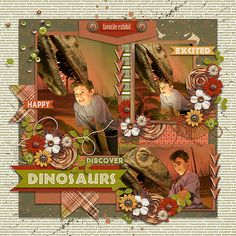 Layout using {Expore Dinosaur} Digital Scrapbook Kit by Dream Big Designs available at Sweet Shoppe Designs http://www.sweetshoppedesigns.com/sweetshoppe/product.php?productid=35251&cat=&page=1 #wendypdesigns