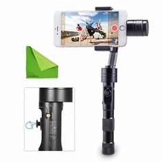 "EACHSHOT® Updated Z1-Smooth-C+ Multi-function 3 Axis Handheld Steady Gimbal PTZ Camera Mount for Smart Phones within 7"" Screen, as iPhone 6+, 5C, SAMSUNG S6, Sony, Blackberry With EACHSHOT Cleaning Cloth"